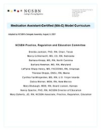 Medication Assistant-Certified (MA-C) Curriculum