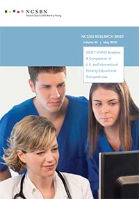Report of Findings from the 2009 TUNING Analysis: A Comparison of U.S. and International Nursing Educational Competencies (Vol. 45)