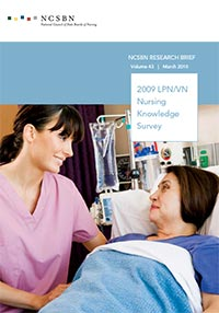 Report of Findings from the 2009 LPN/VN Nursing Knowledge Survey (Vol. 43)