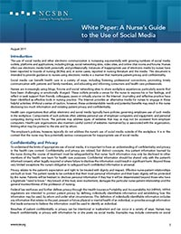A Nurse's Guide to the Use of Social Media