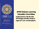 Watch Committee Forums: APRN Distance Learning Education Committee Video