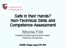 Watch Keynote: Safe in their Hands? Non-Technical Skills and Competence Assessment Video
