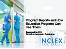 Watch Program Reports and How Education Programs Can Use Them Video