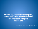 Watch The NCSBN SUD Guidelines: Discipline, Contracting and Collaboration with the Alternative Program Video