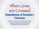 Watch When Lines are Crossed, Remediation of Boundary Violations Video