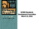Watch Standards Development Committee Forum Video