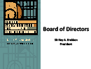 Watch President's Welcome & Board of Directors Update Video