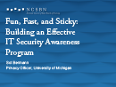 Watch Fun, Fast, and Sticky: Building an Effective Awareness Program Video