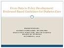 Watch From Data to Policy Development: Evidence-Based Delegation Guidelines for Pediatric Diabetes Care Video