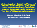 Watch National Regulatory Capacity and Nurse and Midwife Leaders' Perceptions of the African Regulatory Collaborative for Nurses and Midwives (ARC): Evaluation of Four Years of ARC Video