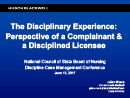 Watch The Discipline Experience: Perspective of a Complainant and a Disciplined Licensee Video