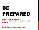 Watch Be Prepared: Proactive Steps to Preserving Your Record on Appeal Video