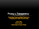 Watch Privacy v. Transparency: Examining Trends and Best Practices for Complying with Open Records Law Video
