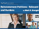 Watch Reinstatement Petitions: Relevant Evidence and Burdens Video