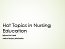 Watch Hot Topics in Nursing Education: Interactive Panel Video