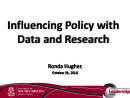 Watch Keynote: Influencing Policy with Data and Research Video