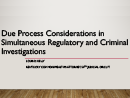 Watch Due Process Considerations in Simultaneous Regulatory and Criminal Investigations Video