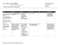 Transition Evidence Grid