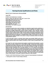 Faculty Qualifications Paper