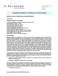 Transition to Practice Report