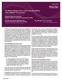 The Methodology Used to Assess the Readability of the NNAAP Examination
