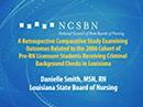 Watch A Retrospective Comparative Study Examining Outcomes Related to the 2006 Cohort of Pre-RN Licensure Students Receiving Criminal Background Checks in Louisiana Video