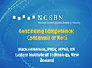 Watch Continuing Competence: Consensus or Not? Video