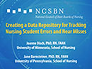 Watch Creating a Data Repository for Tracking Nursing Student Errors and Near Misses Video