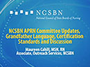 Watch NCSBN APRN Committee Updates, Grandfather Language, Certification Standards and Discussion Video