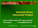 Watch Vermont Nurse Internship Coalition and Project Video