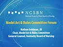 Watch Model Act and Rules Committee Forum Video
