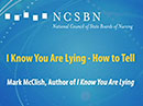 Watch I Know You Are Lying - How to Tell Video