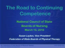 Watch The Road to a Continued Competence Program Video