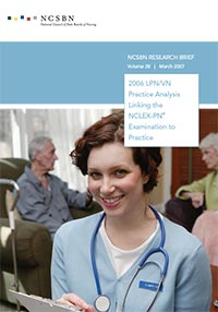Report of Findings from the 2006 LPN/VN Practice Analysis Linking the NCLEX-PN to Practice (Vol. 28)